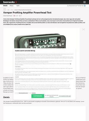 Bonedo.de Kemper Profiling Amplifier Powerhead