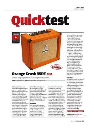 Guitarist Orange Crush 35RT