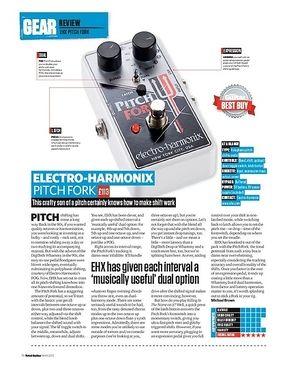 Total Guitar Electro-Harmonix Pitch Fork