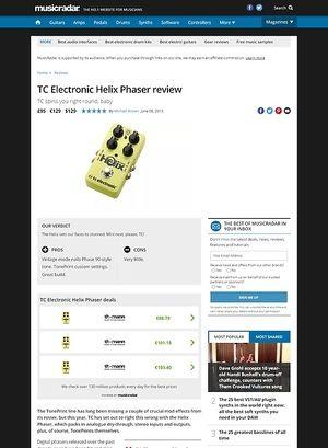 MusicRadar.com TC Electronic Helix Phaser