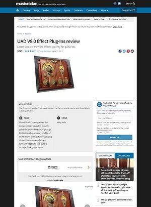 MusicRadar.com UAD V8.0 Effect Plug-Ins