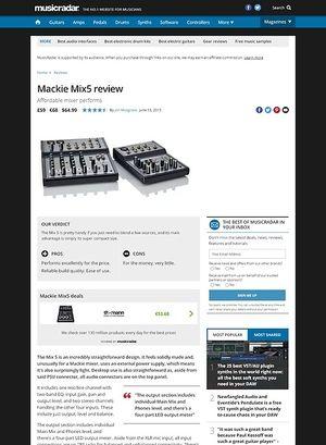 MusicRadar.com Mackie Mix5