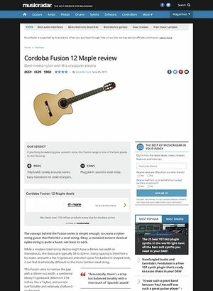 MusicRadar.com Cordoba Fusion 12 Maple