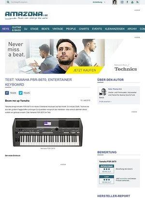 Amazona.de Test: Yamaha PSR-S670, Entertainer Keyboard