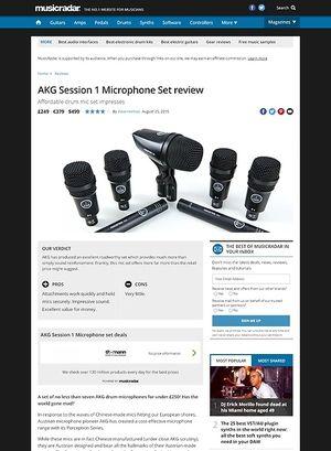 MusicRadar.com AKG Session 1 Microphone Set
