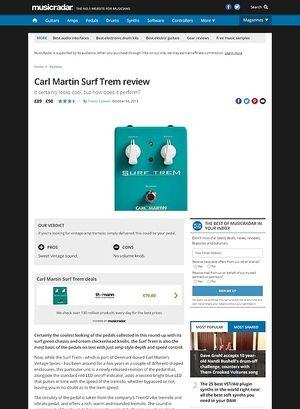 MusicRadar.com Carl Martin Surf Trem