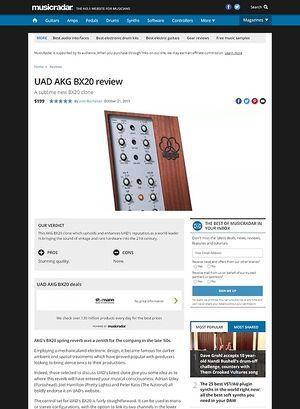 MusicRadar.com UAD AKG BX20