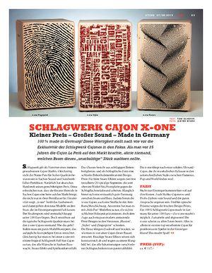 Sticks Schlagwerk Cajon X-One