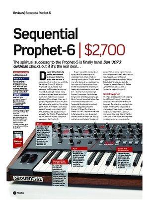 Future Music Sequential Prophet 6