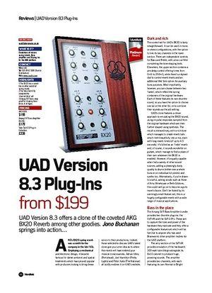Future Music UAD Version 8.3 Plug-Ins
