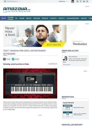 Amazona.de Test: Yamaha PSR-S970, Entertainer Keyboard