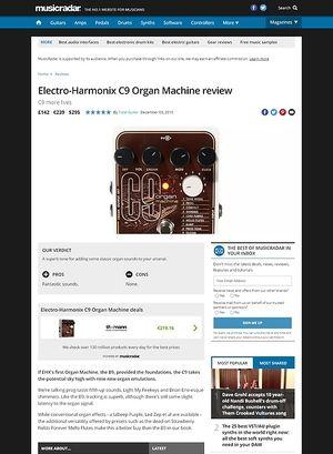 MusicRadar.com Electro-Harmonix C9 Organ Machine
