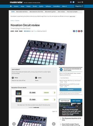 MusicRadar.com Novation Circuit
