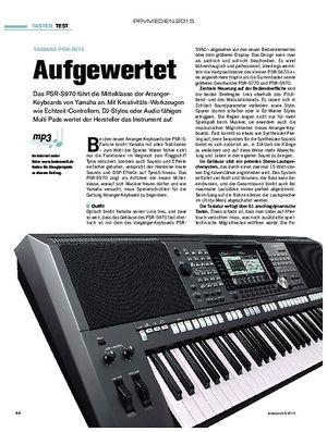 tastenwelt Yamaha PSR-S970