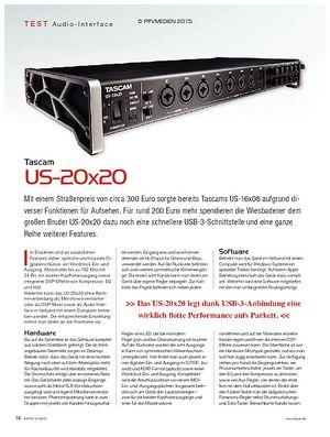 KEYS Tascam US-20x20
