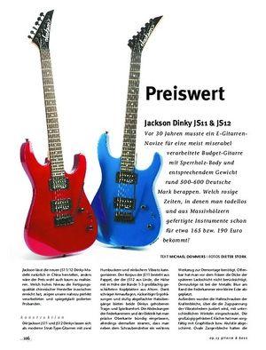 Gitarre & Bass Jackson Dinky JS11 & JS12