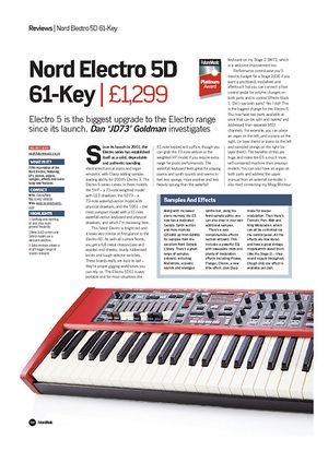 Future Music Nord Electro 5D 61-Key
