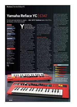 Future Music Yamaha Reface YC