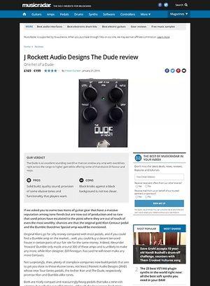 MusicRadar.com Rockett Audio Designs The Dude