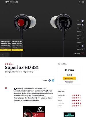 Kopfhoerer.de Superlux HD 381