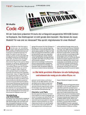 KEYS M-Audio Code 49