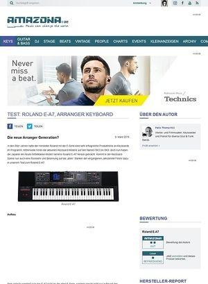 Amazona.de Test: Roland E-A7, Arranger Keyboard