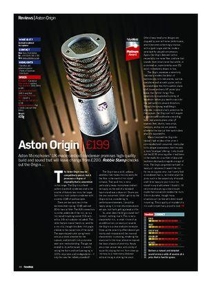 Future Music Aston Origin