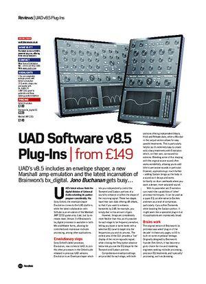 Future Music UAD Software v8.5 Plug-Ins