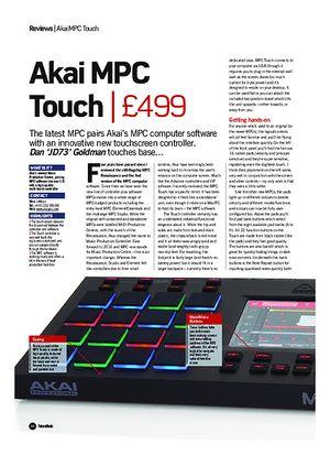 Future Music Akai MPC Touch
