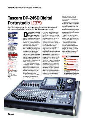 Future Music Tascam DP-24SD Digital Portastudio