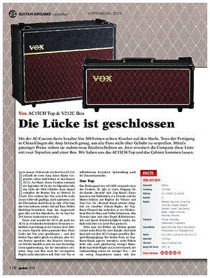 guitar Vox AC15CH & V212C Box