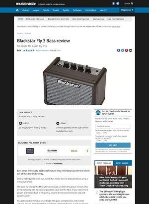 MusicRadar.com Blackstar Fly 3 Bass