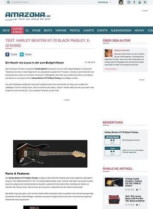 Amazona.de Test: Harley Benton ST-70 Black Paisley, E-Gitarre