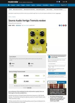 MusicRadar.com Source Audio Vertigo Tremolo