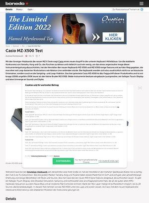 Bonedo.de Casio MZ-X500 Test