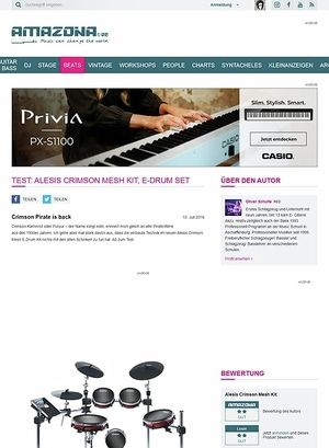 Amazona.de Test: Alesis Crimson Mesh Kit, E-Drum Set