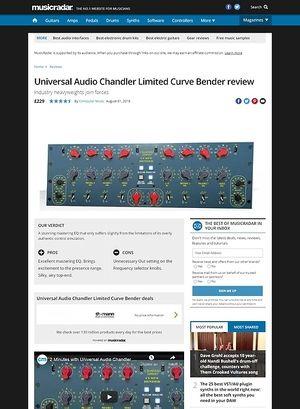 MusicRadar.com Universal Audio Chandler Limited Curve Bender