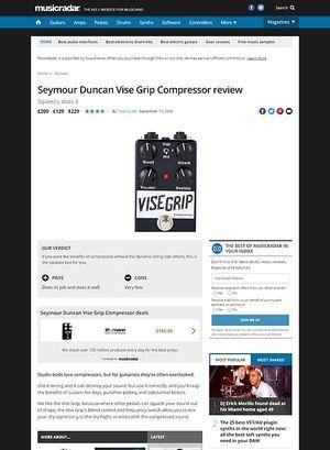 MusicRadar.com Seymour Duncan Vise Grip Compressor