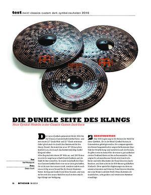 Sticks Meinl Classics Custom Dark Cymbal-Neuheiten 2016