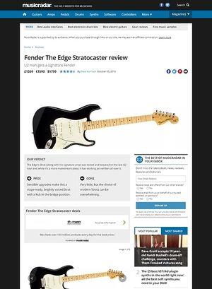 MusicRadar.com Fender The Edge Stratocaster