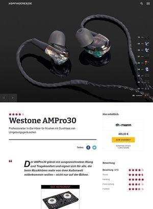Kopfhoerer.de Westone AMPro30