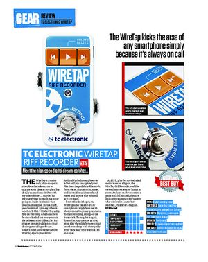 Total Guitar TC Electronic Wiretap Riff Recorder