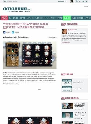 Amazona.de Gurus Echosex 2 vs. Catalinbread Echorec