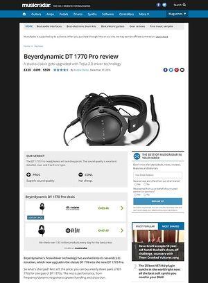 MusicRadar.com Beyerdynamic DT 1770 Pro