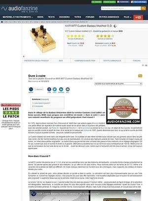 Audiofanzine.com MXR M77 Custom Badass Modified O.D.