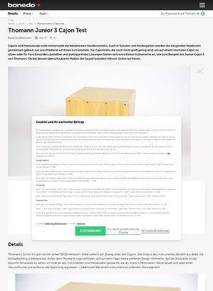 Bonedo.de Thomann Junior 3 Cajon