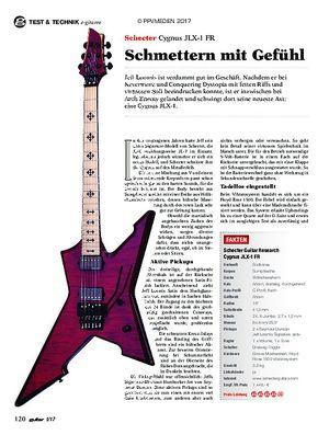 guitar Schecter Cygnus JLX-1 FR