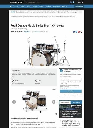MusicRadar.com Pearl Decade Maple Series Drum Kit