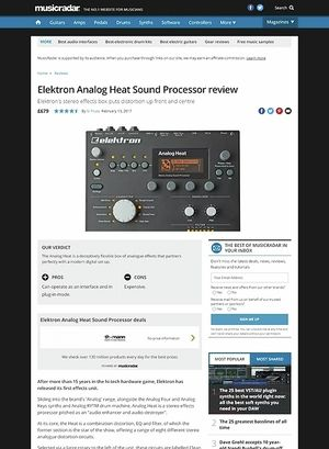 MusicRadar.com Elektron Analog Heat Sound Processor
