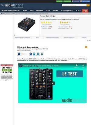 Audiofanzine.com Pioneer DJM-450